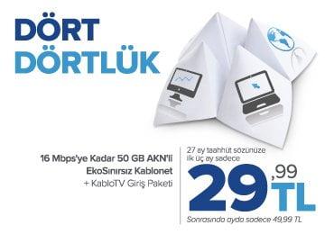 Türksat Kablonet dört dörtlük kampanya