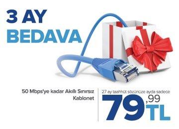 türksat kablonet 3 ay bedava kampanyası