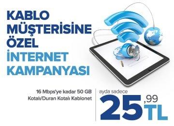 kablo müşterisine özel internet kampanyası