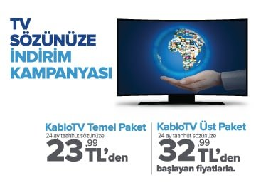 kablo tv indirim kampanyası